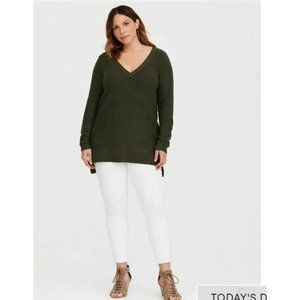 Torrid Womens Strappy Sweater Tunic Top Sz 2 Sz 18